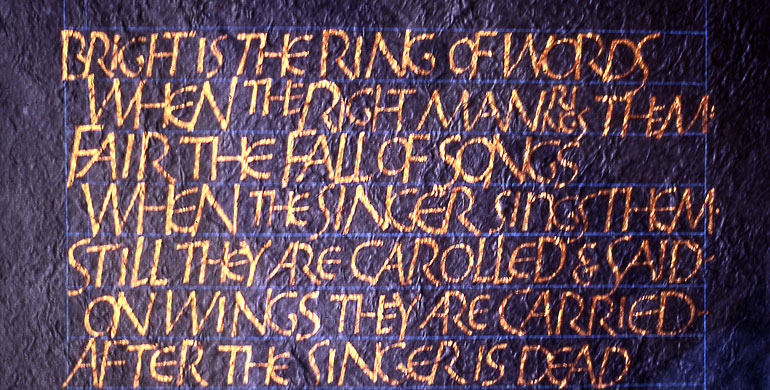 Bright is the Ring of Words (R L Stevenson)